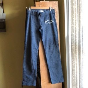 Navy blue Abercrombie & Fitch sweatpants